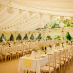 Trestle table marque set up